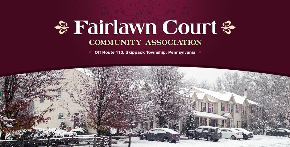 fairlawn court in the snow